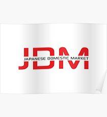 JDM Japanese Domestic Market (light background) Poster