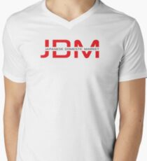 JDM Japanese Domestic Market (light background) Mens V-Neck T-Shirt