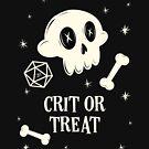 Crit or Treat Halloween Süßes oder Saures Polyhedral D20 Würfel von pixeptional