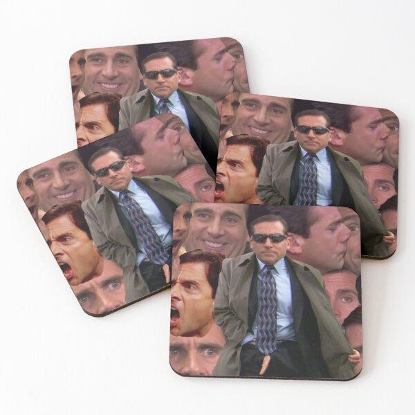 Michael Scott Collage Coasters (Set of 4)