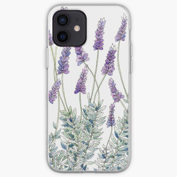 Lavender, Illustration iPhone Soft Case