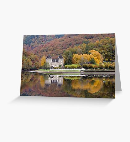 Rich Fall Colors Reflected... Chateau de Gibanel Greeting Card