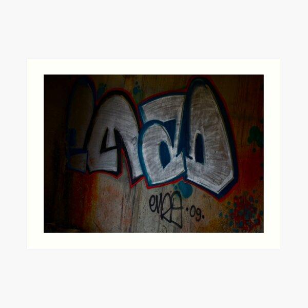 Cracow Graffiti  Undreground Center . Brown Sugar . Views (300) Thx! Art Print