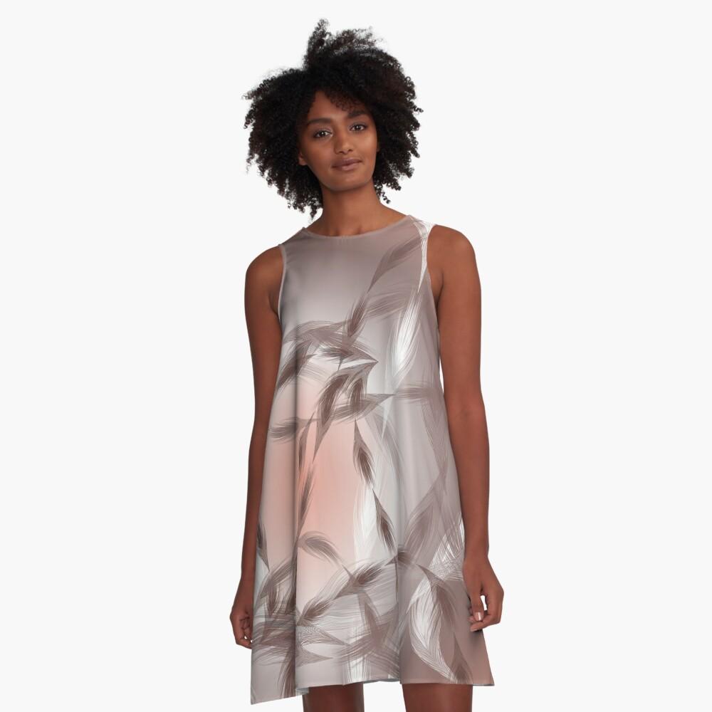 CoralFeather Wind A-Line Dress