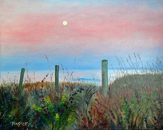 Moonrise Sunset by Scott Plaster