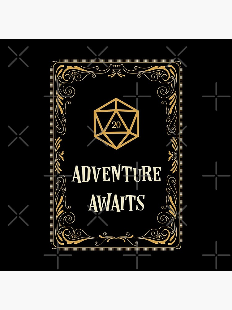 Adventure Awaits D20 Dice Tabletop RPG  by pixeptional