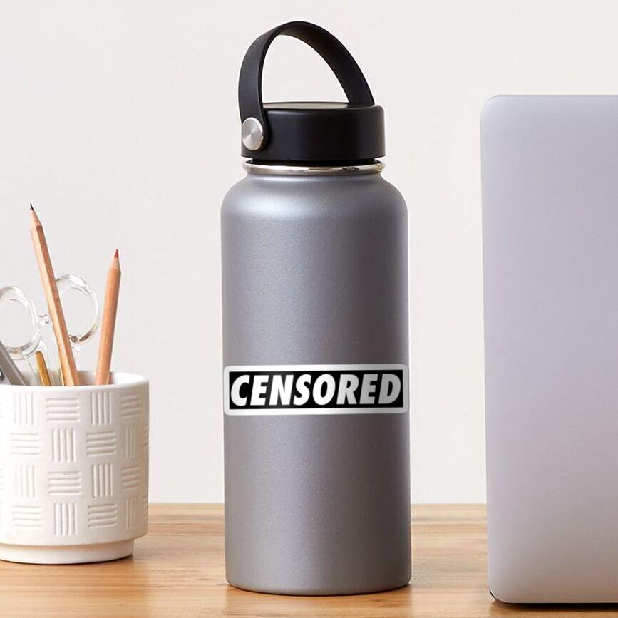 Censored black Sticker