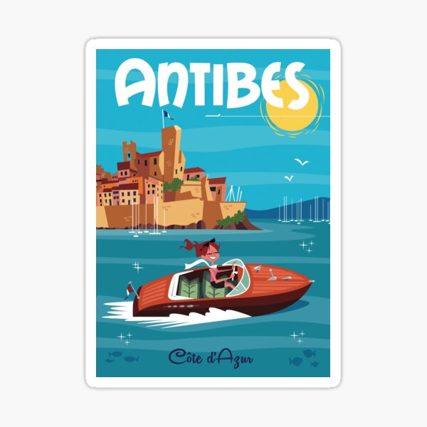 Antibes Stickers Redbubble