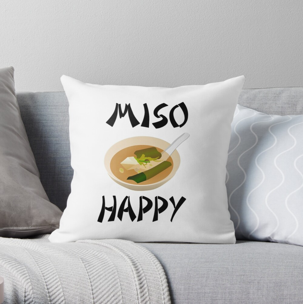 Miso Happy Throw Pillow