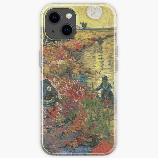 Vincent Van Gogh - The Red Vineyards in Arles iPhone Soft Case