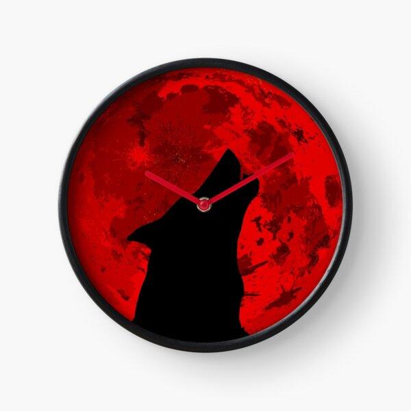 Howling Wolf Blood Moon Clock