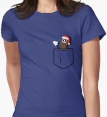 Mr.Hankey Pocket Womens Fitted T-Shirt