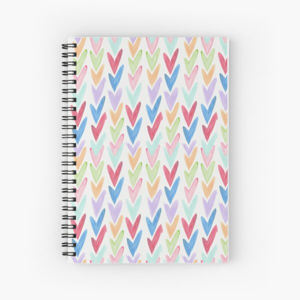 Modern hand painted colorful watercolor abstract chevron Spiral Notebook