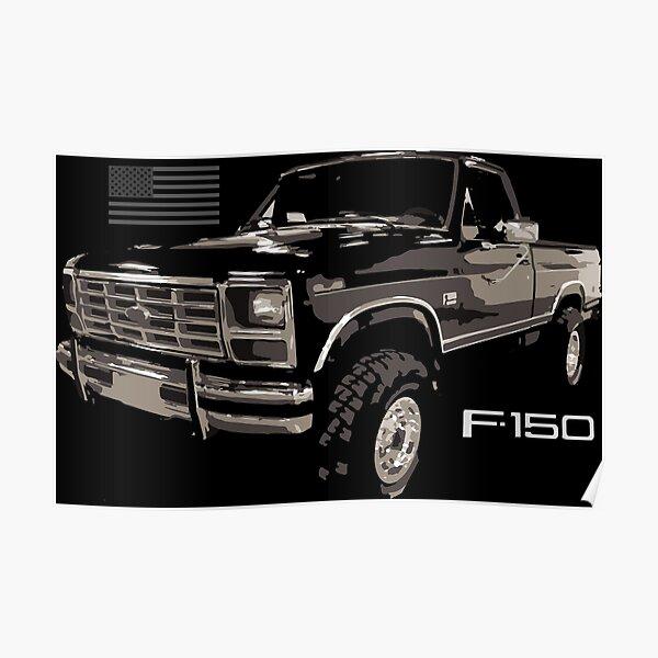 Vintage 1986 Ford F150 XLT Lariat Truck Poster