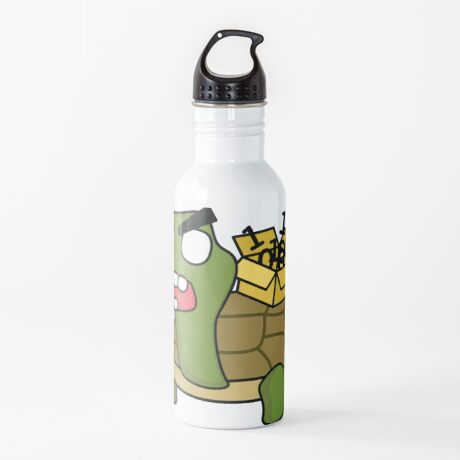 angry zombie packet tortoise Water Bottle