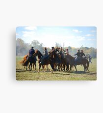 Fighting it Out On Horseback 2 Metal Print