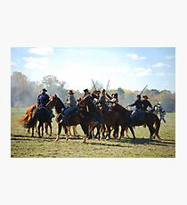 Fighting it Out On Horseback 2 Photographic Print