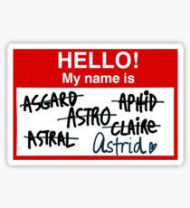 An agent by any other name Sticker