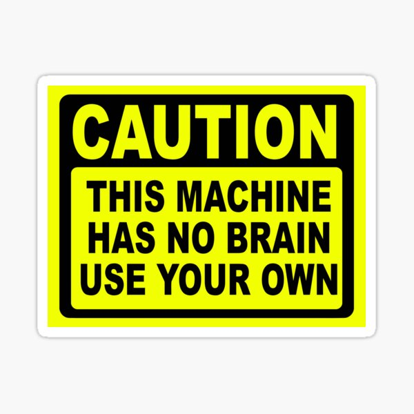 Funny Toolbox Workshop Warning Stickers Dodgy Joiner Garage Stickers