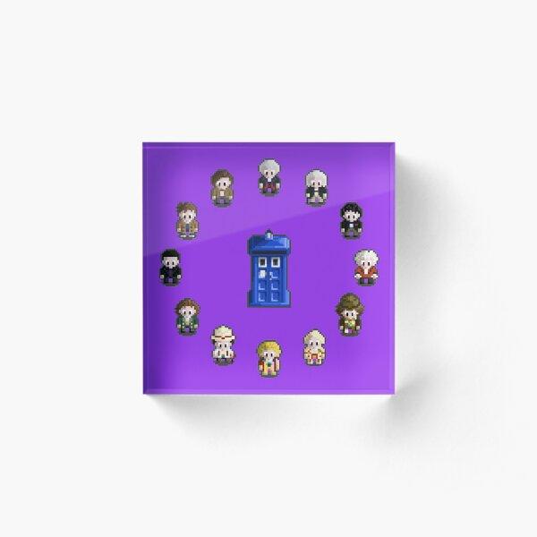 12 Doctors (Pixel) Acrylic Block