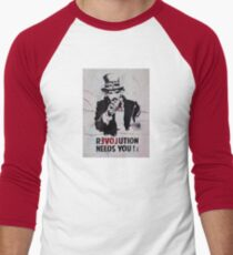 brick lane graffiti revolution Men's Baseball ¾ T-Shirt