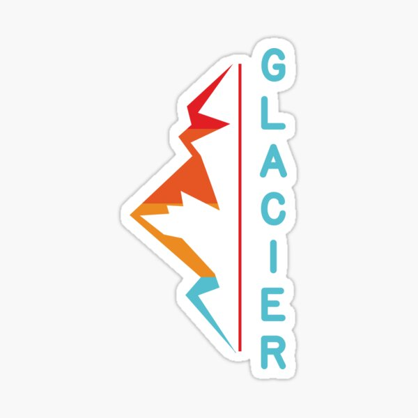 Glacier National Park Retro Mountain Sticker Sticker