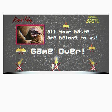 RetTek - Space Baste Parody Arcade Game Shirt by rettek