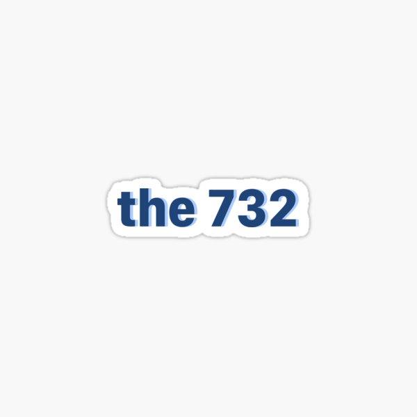 the 732 blues Sticker