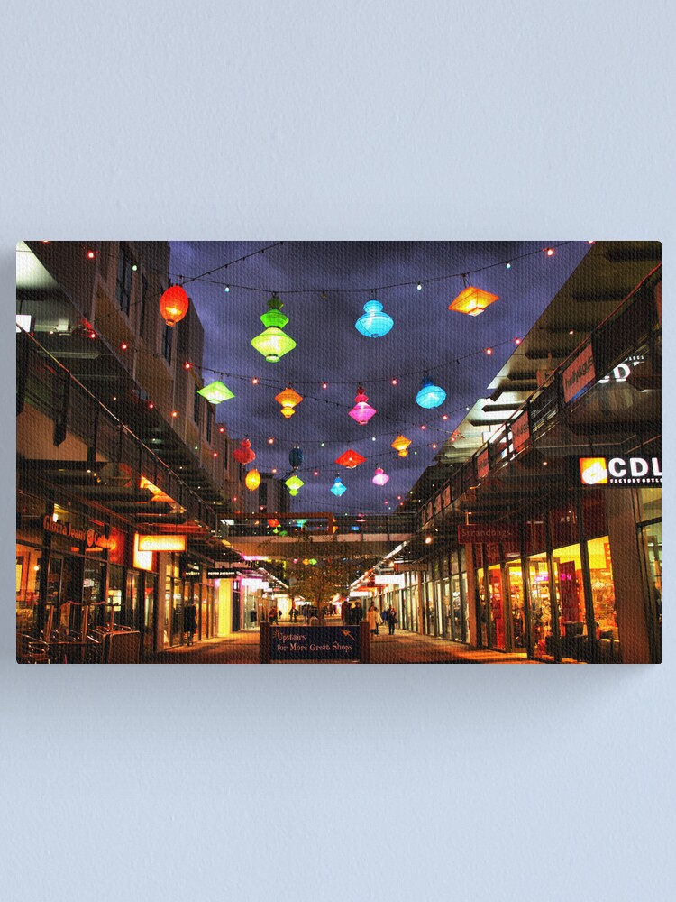 Alternate view of Chinese lanterns - Harbour Town Canvas Print