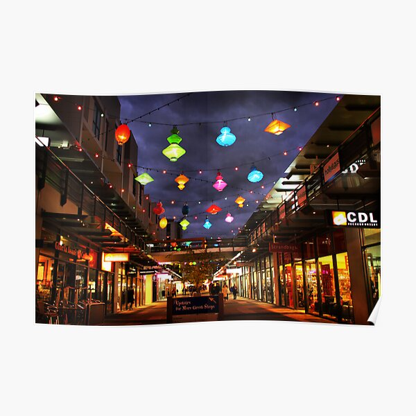 Chinese lanterns - Harbour Town Poster