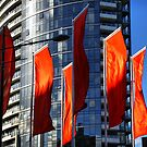 Red flags outside Victoria Point by Robyn Lakeman