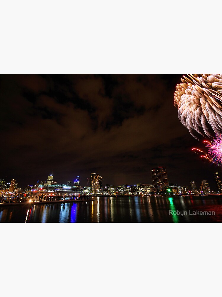 Fireworks over the water by Rivergirl