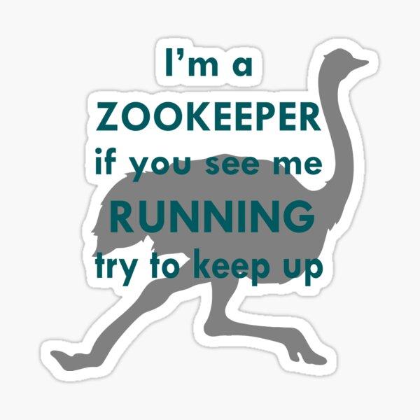 Running - Ostrich Sticker