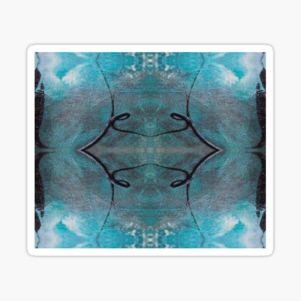 Abstraktes Muster Türkis Schwarz Weiß Sticker