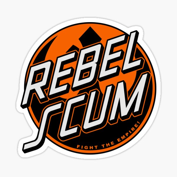 Rebel Emblem (Orange) Sticker