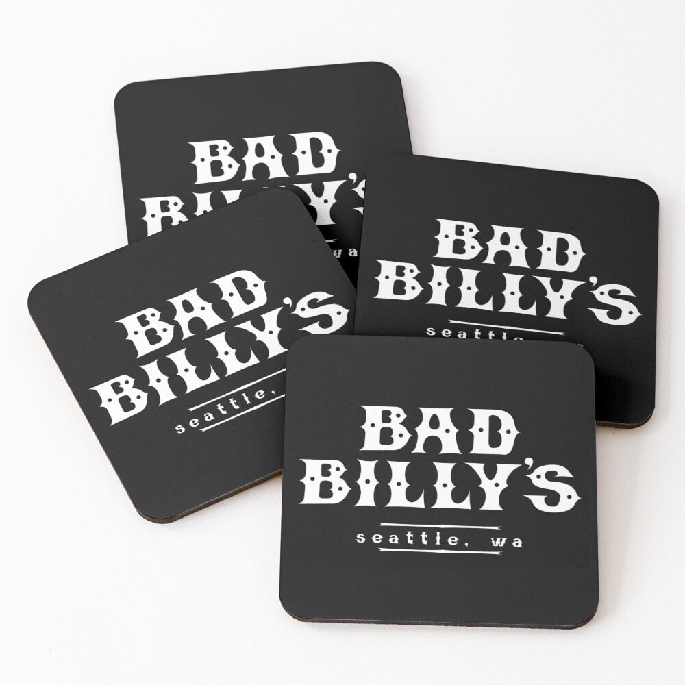 Bad Billy's Coasters (Set of 4)
