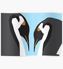 Penguin Pair Poster