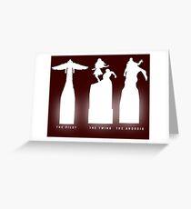 Silhouette Superheroes Greeting Card