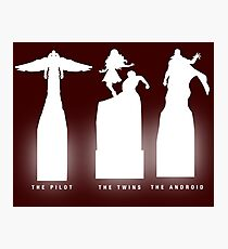 Silhouette Superheroes Photographic Print