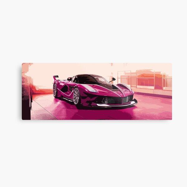 Pink Ferrari FXX K Metal Print