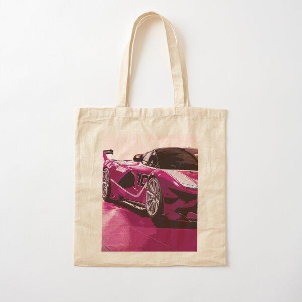 Pink Ferrari FXX K Cotton Tote Bag