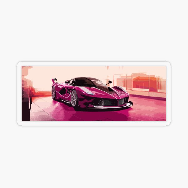 Pink Ferrari FXX K Transparent Sticker