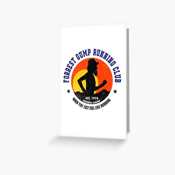 Club de course Forrest Gump Carte de vœux