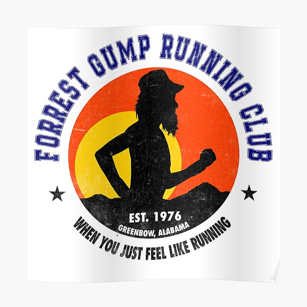 Forrest Gump Running Club Poster
