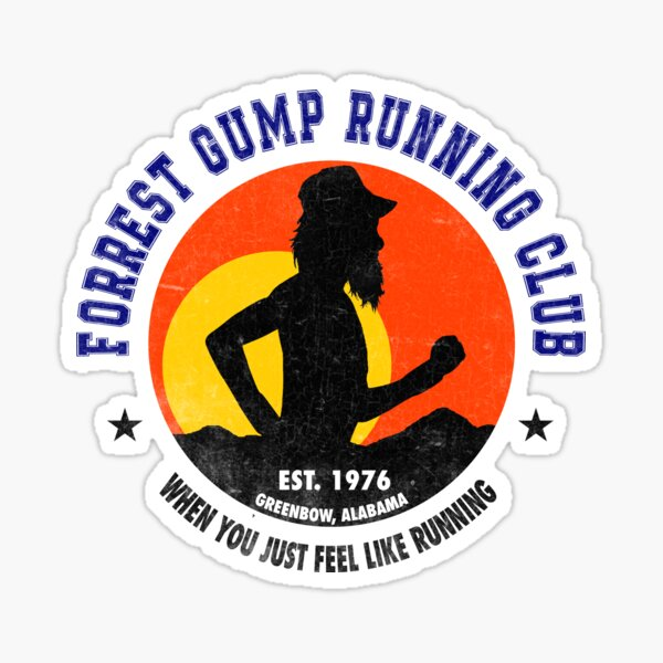 Forrest Gump Running Club Pegatina