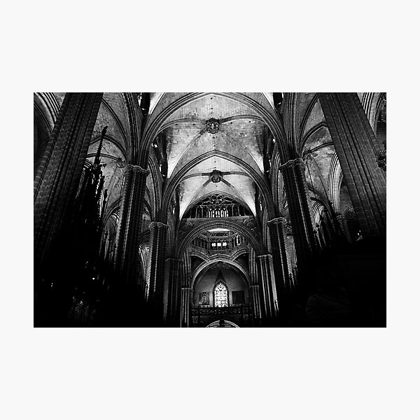 Vault, Barcelona Cathedral Photographic Print