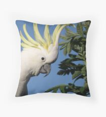 Sulpher Crested! Throw Pillow