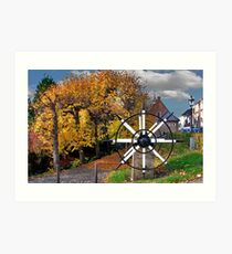 Autumn colors in Willemstad Art Print