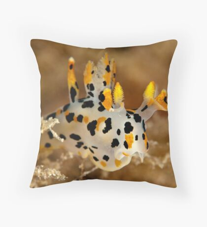 Winged Thecacera Throw Pillow