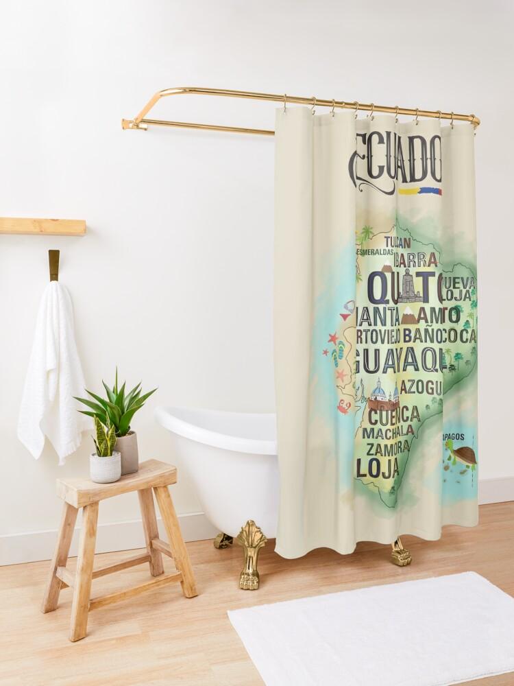 Alternate view of ECUADOR Shower Curtain
